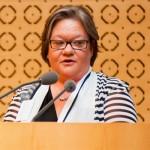 Lucie FORGET, Présidente de l'Ordre des physiothérapeutes du Québec.
